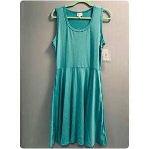 NWT LuLaRoe Nicki Jade Green Dress in Size Large
